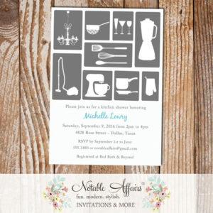 Bridal Shower Kitchen House Invitation