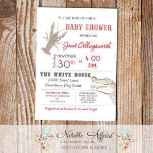 Cajun Style Crawfish Alligator Baby Shower Bridal Shower invitation