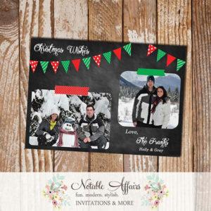 Chalkboard Bunting Christmas Wishes