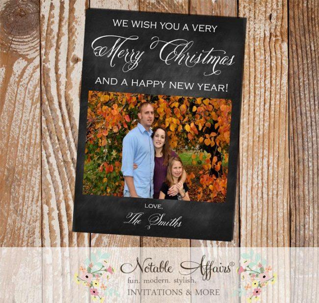 Chalkboard Christmas Christmas Holiday Photo Card