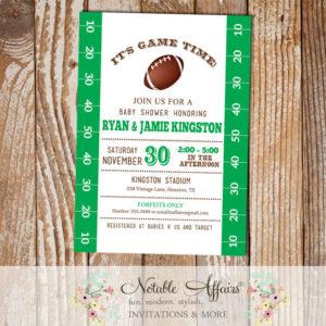Football Field Tailgate Baby Shower Invitation