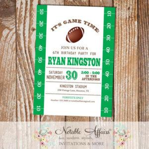 Football Field Tailgate Birthday Invitation