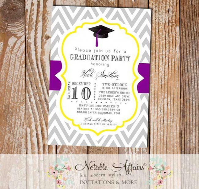 Graduation Party Senior College Graduation Invitation