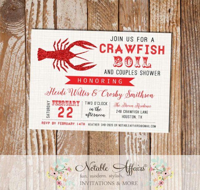 Red Glitter Crawfish Boil