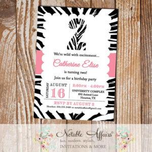 Zebra Print Invitation